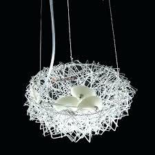 creative nest lamp pendant lights trendy led lamps personality aluminum suspension simple unique hanging