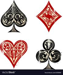 playing cards symbols royalty free