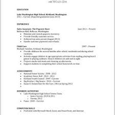 Resumes For High School Graduates With No Work Experience ...
