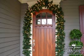 E  Stylish Decoration How To Hang Garland Around Front Door Home Design  Ideas