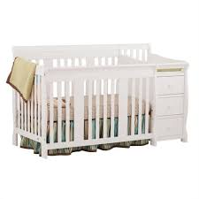 4 in1 crib changer combo in white