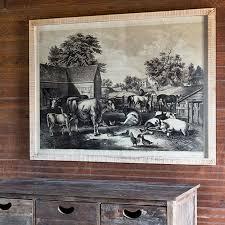 the roadside farm wall art antique