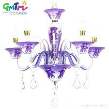 purple chandelier purple chandelier lighting suppliers special offer creative cartoon bear purple pink blue chandeliers