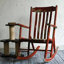 territory hard goods red rocking chair at off