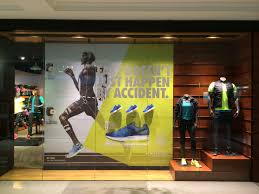 Nike Air Zoom Pegasus 31 retail window display sports shoe display.