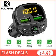 FLOVEME <b>USB Car Charger</b> For Phone <b>Bluetooth</b> Wireless FM ...