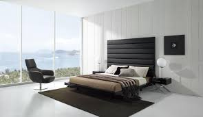 modern minimalist bedroom furniture. Modern Minimalist Design Of The Ideas To Decorate A Black And White Bedroom That Has Ceramics Floor Can Be Decor With Concrete Furniture D
