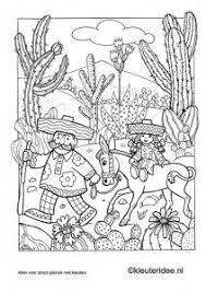 Cosy Mexico Coloring Pages Green Ro Kleurplaat 2 Kleuteridee Nl
