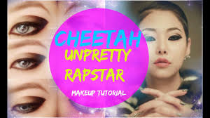 cheetah unpretty rapstar makeup tutorial you cheetah for inspired makeup
