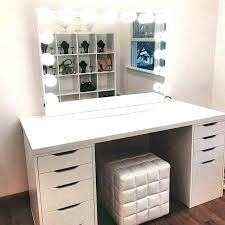 trending modern makeup vanity white set lovely dressing table mirror lights desk with and whit around