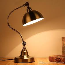 best table light study dressing retro antique bronze desk lamp bedroom bedside lamps study iron eye