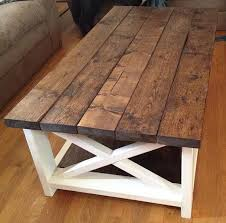 handcrafted rustic coffee table