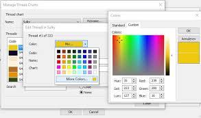 16 Color Chart Lesson 16 Bernina Embroidery Software V8 Creating Custom