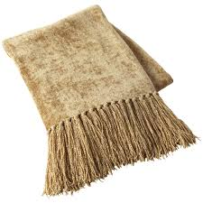 gold chenille throw  pier  imports