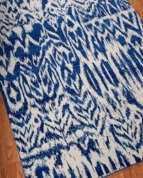 alluring blue ikat rug on jayceon cream area reviews joss main