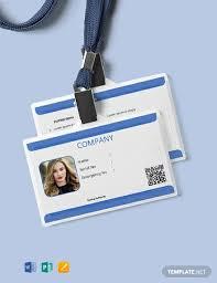 Id Card Templates Free 36 Free Id Card Templates Word Psd Indesign Apple