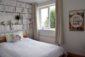 White Bedroom With Bookshelf Wallpaper ...