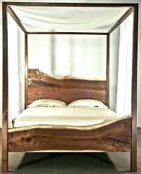 Wood Canopy Bed Frame Wood Canopy Bed Frame Paint Beds Luxurious ...
