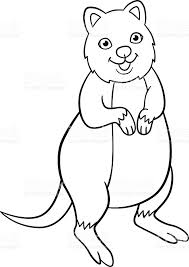 Small Picture Coloring Pages Little Cute Quokka Smiles stock vector art