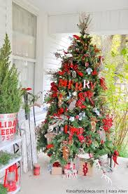kara s party ideas rustic plaid farmhouse cabin christmas tree michaels outdoor decorations