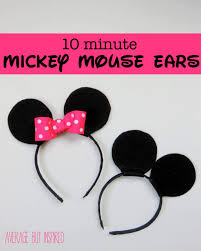 with a few inexpensive supplies you can make your own mickey mouse or minnie mouse ears