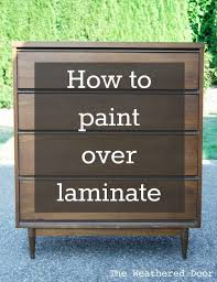 paint laminate furnitureHow to Paint over Laminate and why I love furniture with laminate