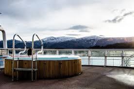 Hutrigruten's Trollfjord hot tub A Passport Affair