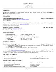 Objective In Resume For Computer Science Objective In Resume For Internship Engineering Study Computer 91