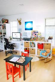 Office playroom Garage Sharing Your Space With The Kids The New Domestic Apartment Therapy Pinterest Sharing Your Space With The Kids Gyerekszoba Pinterest Office