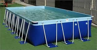 rectangle above ground swimming pool. Z Splash Around Aqua Blue Rectangle Pool Above Ground Swimming
