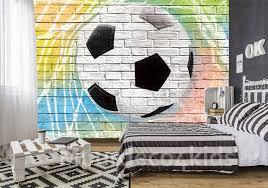 Voetbal Fotobehang Graffiti In Pastel Papier Of Vliesbehang