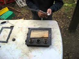 home made wood stove glass replacement