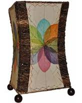eangee hour glass multi color cocoa leaves uplight table lamp beautiful color table uplighting