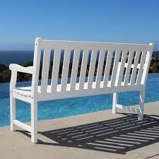 vifah bradley 5 ft patio bench v1627