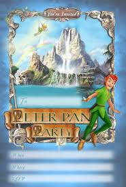 kids party invitations peter pan printable invitation peter pan party printable invitation disney