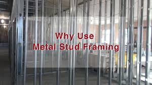 interior metal framing. In Commercial Construction, We Typically Build Our Interior Walls With Metal Studs. Whereas For Residential Projects, Home Check Plus, Usually Uses Wood Framing I