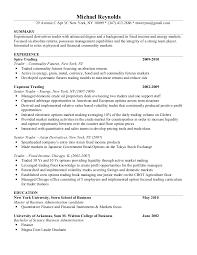 mike reynolds resume - Junior Trader Resume