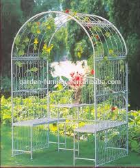 guizhou wrought iron handicrafts decorative painted white china garden furniture metal garden arbor