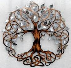 hey i found this really awesome etsy listing at https www etsy listing 180425240 tree of life infinity tree wall decor on metal art tree of life wall hanging with metal art wall hanging 34 tree haitian steel drum metal wall