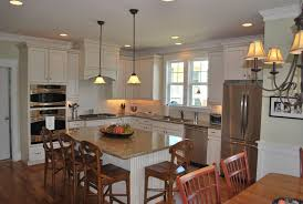 kitchens with islands photo gallery. Delighful Islands Retro White Kitchen Design Ideas With 4 Wooden Seating Island Set  Brown Granite With Kitchens Islands Photo Gallery A