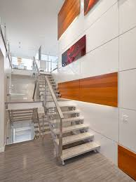 Stairs and Feature Wall modern-staircase
