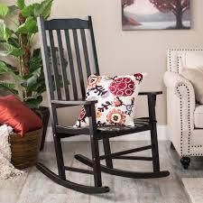 Bedroom Wonderful Rocking Chair Furniture Black Finish Wood