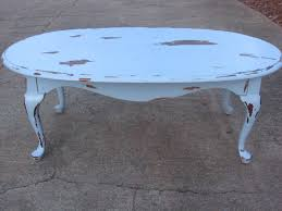 a new leaf furniture blue distressed coffee table sold