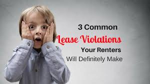 Lease Violations 3 Common Lease Violations Your Renters Will Definitely Make