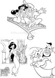 Coloriage Aladdin Jasmine Genie Dessin
