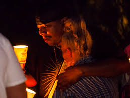 Mario Smith comforts Mary Ann Ratay during a vigil in memory of Jennifer  Ratay, daughter of Mar … | Las Vegas Review-Journal