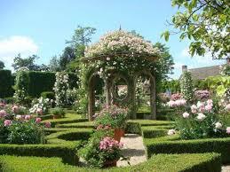 english garden design. English Garden Design With Pergola And Climbing Roses