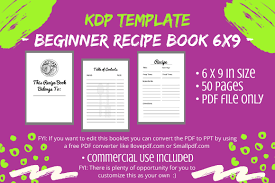 🌐 what browser should i use to convert a file? Kdp Interior Beginner Recipe Book Graphic By Tomboy Designs Creative Fabrica