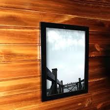 poster frame 24x36 decorative black wood wide wall hanging poster frame