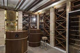 home wine room lighting effect. modern wooden wine cellar home room lighting effect